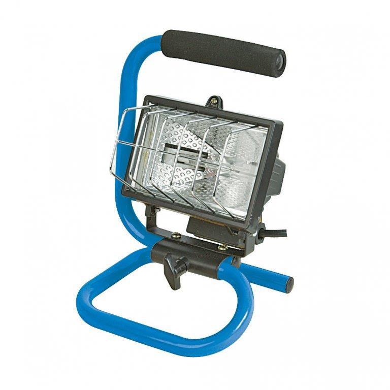 lampe projecteur de chantier 150 w silverline krenobat. Black Bedroom Furniture Sets. Home Design Ideas
