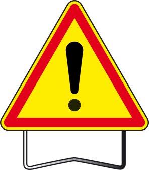 panneau de signalisation attention danger ak31 en m tal krenobat. Black Bedroom Furniture Sets. Home Design Ideas