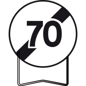 Panneau Signalisation Prescription B33 Fin Dinterdiction 70kmh Taliaplast