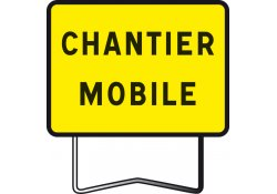 Panneau indication KC1 chantier mobile  TALIAPLAST