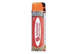 Traceur de chantier orange fluo 500 ml TALIAPLAST