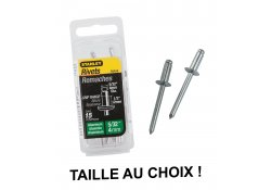 Rivets aluminium long 9,5 ou 12,7 mm STANLEY
