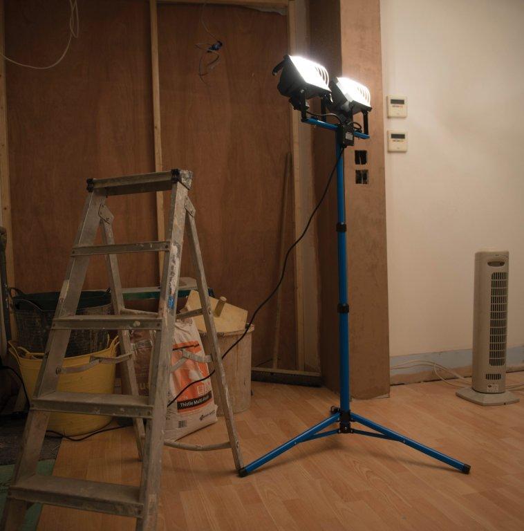 Silverline 365874 Eclairage de chantier double 230 V