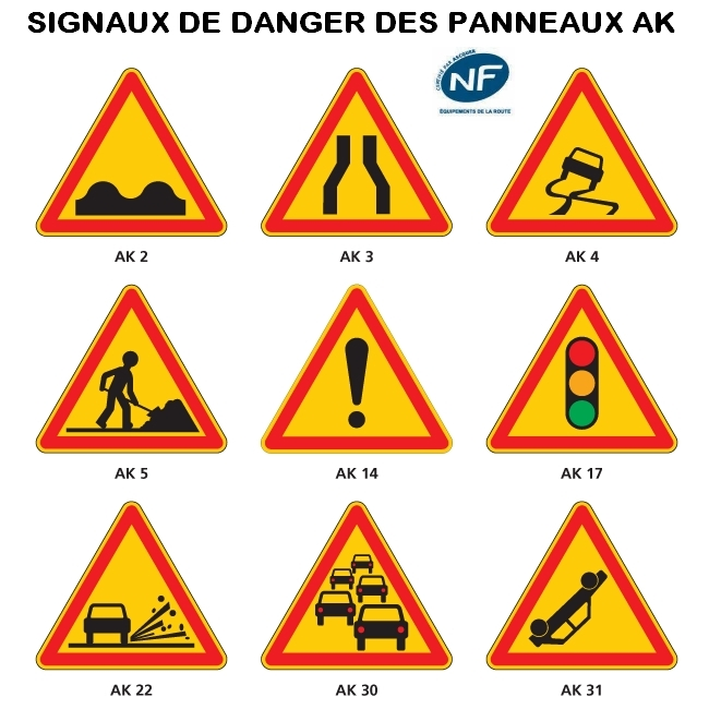 panneau signalisation danger travailleur ak5 taliaplast. Black Bedroom Furniture Sets. Home Design Ideas