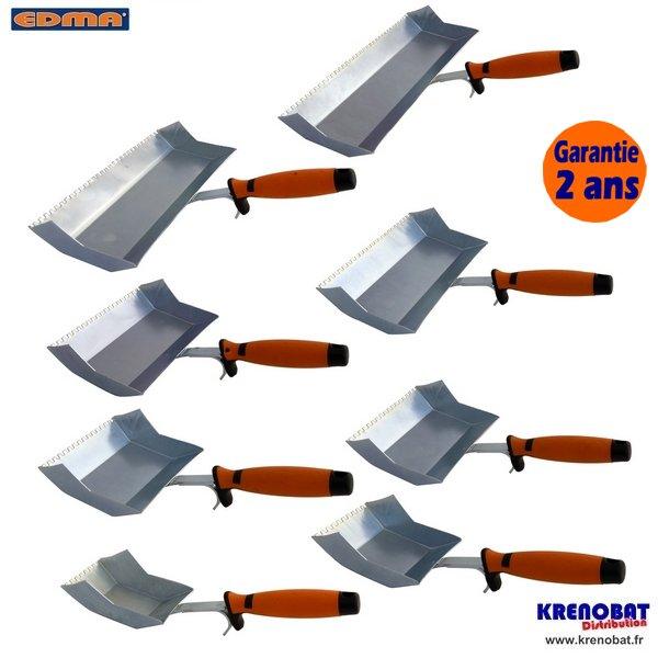Truelle dent e colle pour b ton cellulaire 75 mm edma krenobat - Colle pour beton cellulaire ...