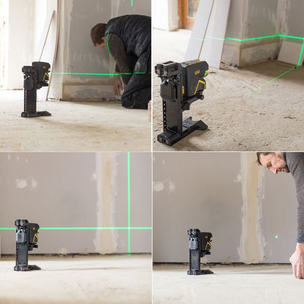 niveau laser croix 5 points scp5 vert stanley krenobat. Black Bedroom Furniture Sets. Home Design Ideas