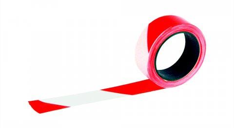 ruban rubaplast rubalise rouge et blanc 50 mm x 200 m taliaplast krenobat outillage. Black Bedroom Furniture Sets. Home Design Ideas