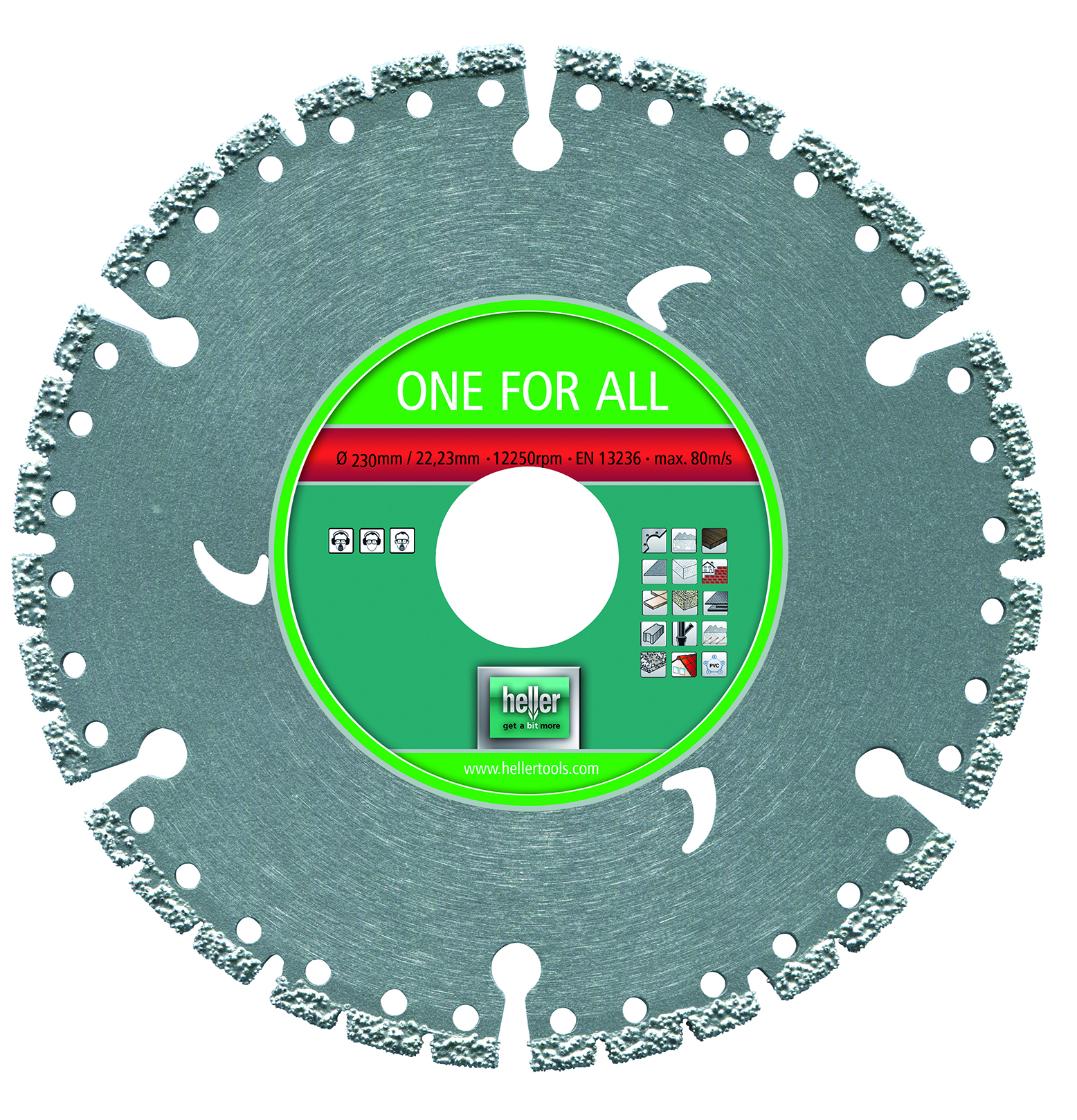 Disque diamant universel One For All 230 mm HELLER