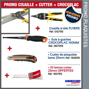 Cisaille + cutter + crocoplac